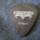 TESTAMENT GUITAR PICK Alex Skolnick black tortex