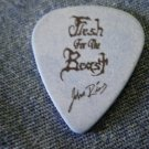 FLESH FOR THE BEAST GUITAR PICK John Rios blue