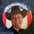 DALLAS PINBACK BUTTON J.R. Ewing For President who shot jr VINTAGE