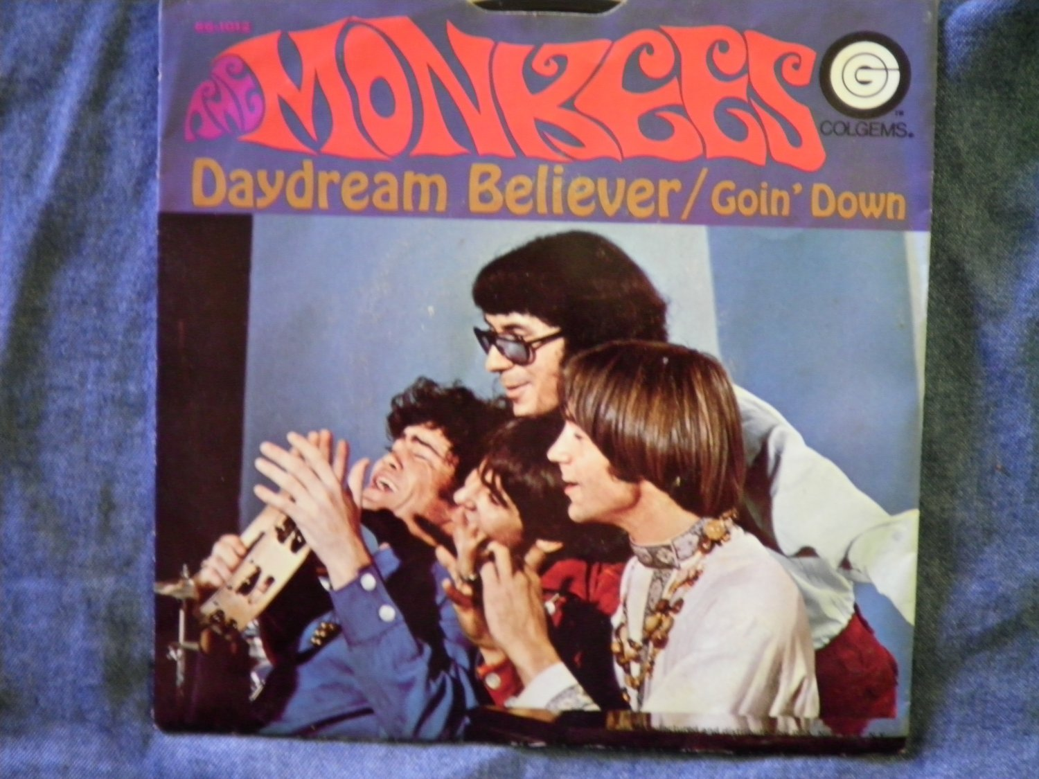 45 THE MONKEES Daydream Believer b/w Goin Down vinyl record W/PICTURE SLEEVE
