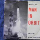 45 America's First Man in Orbit john glenn mercury vintage vinyl record W/PICTURE SLEEVE