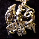 SAXON NECKLACE eagle & snake logo VINTAGE