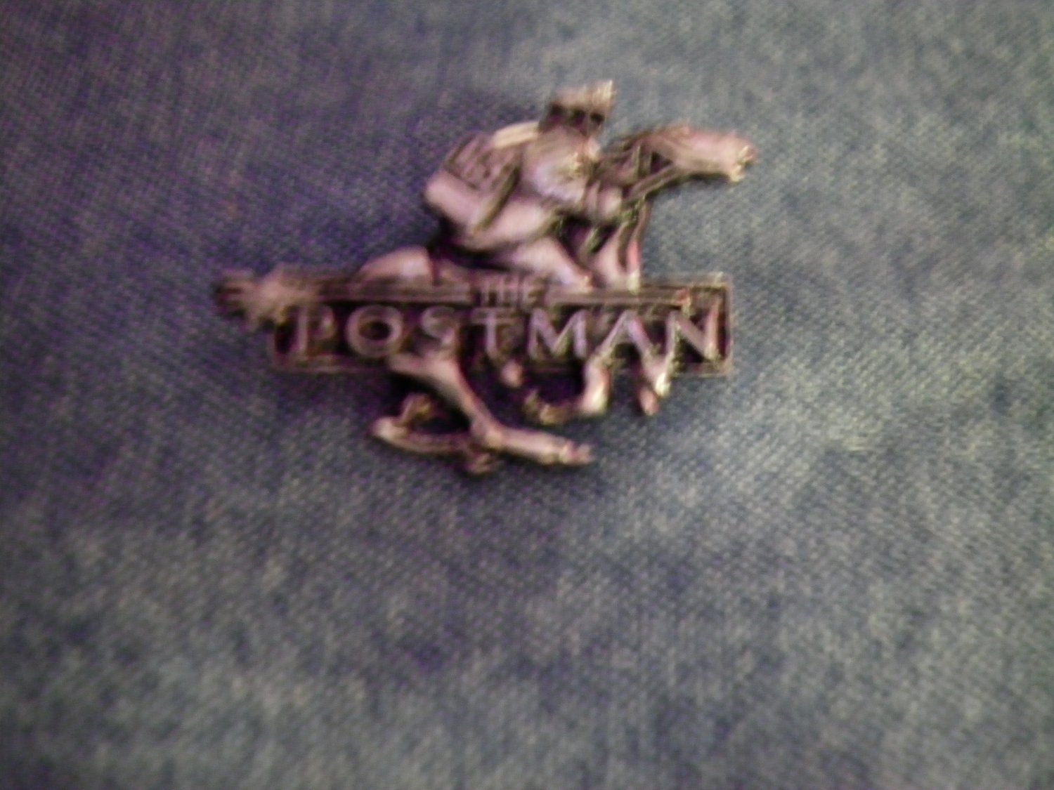 THE POSTMAN TACK PIN kevin costner movie metal button PROMO