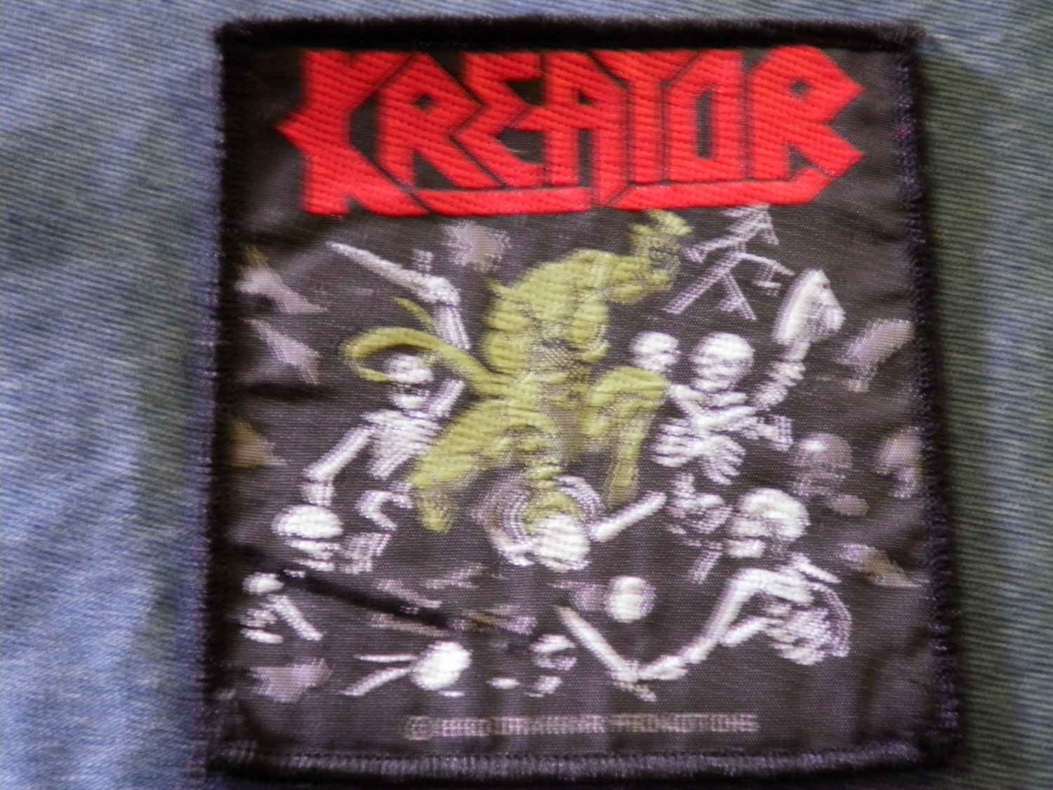 KREATOR sew-on PATCH Pleasure To Kill demon IMPORT