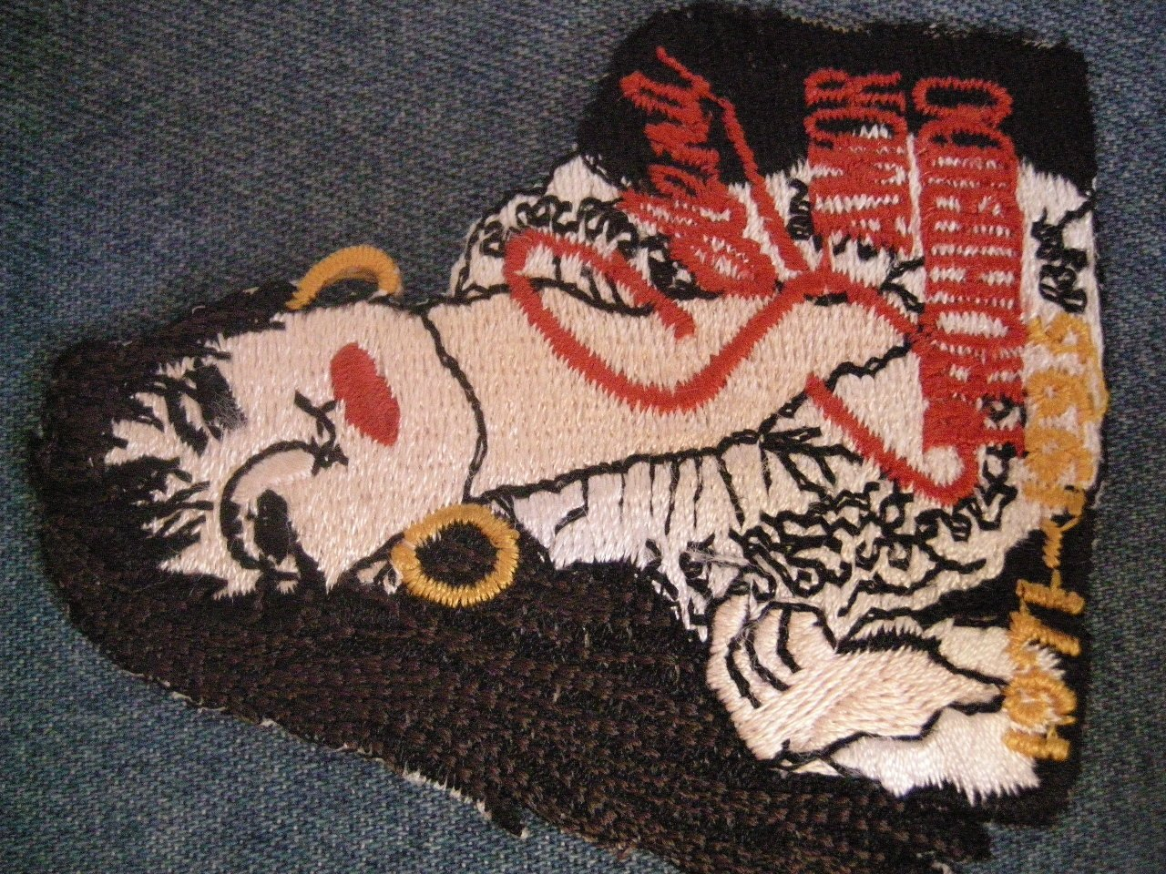 SELENA iron-on PATCH Amor Prohibito 1971-1995 latin RARE VINTAGE