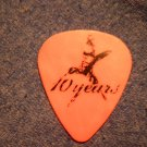 10 YEARS GUITAR PICK Lewis Cosby big lew ten orange