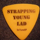 STRAPPING YOUNG LAD GUITAR PICK symbol logo yellow