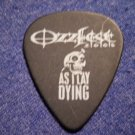 AS I LAY DYING GUITAR PICK Ozzfest 2005 skull logo black