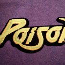 POISON iron-on PATCH classic logo VINTAGE JUMBO