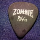 ROB ZOMBIE GUITAR PICK Riggs scum of the earth black