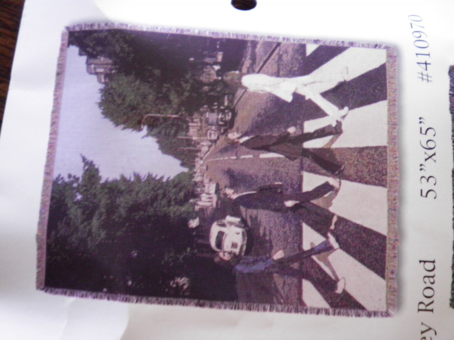 THE BEATLES BLANKET abbey road licensed throw NEW