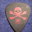 AVRIL LAVIGNE GUITAR PICK skull crossbones logo black