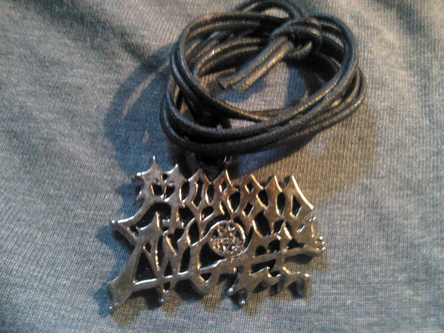 MORBID ANGEL METAL NECKLACE classic logo VINTAGE 80s