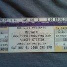 MUDVAYNE TICKET Tour 2008 unused SALE