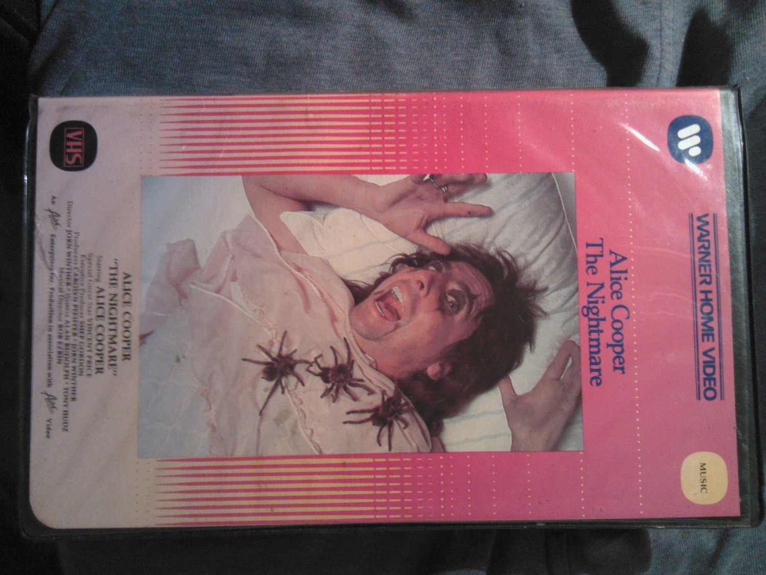 VHS ALICE COOPER The Nightmare vincent price VINTAGE OOP