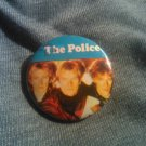 THE POLICE PINBACK BUTTON sting blue VINTAGE