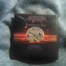 ANTHRAX PINBACK BUTTON Persistence of Time square VINTAGE