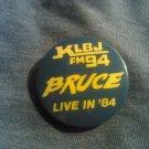 BRUCE SPRINGSTEEN PINBACK BUTTON 1984 radio promo klbj austin texas RARE