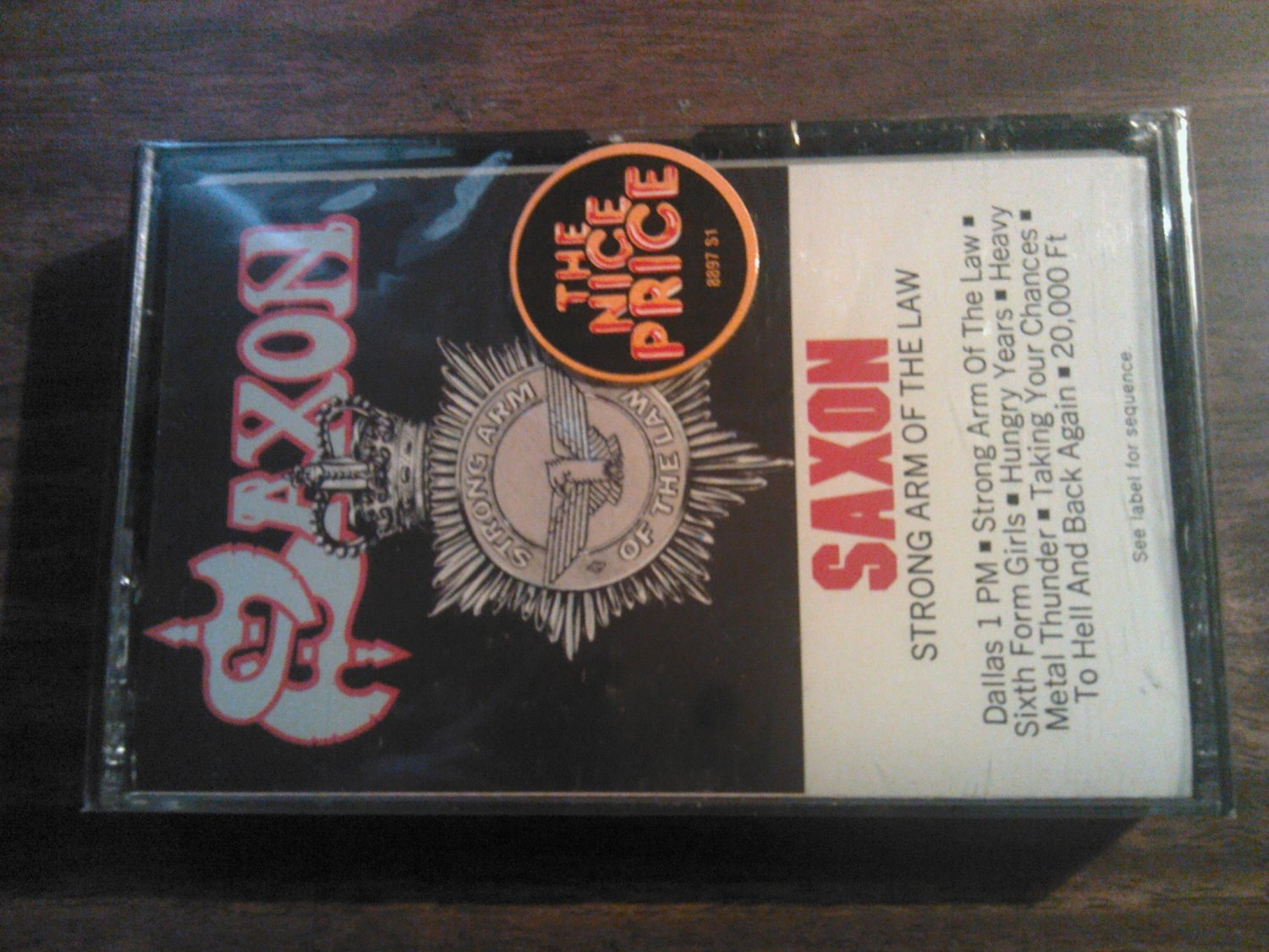 SAXON cassette tape Strong Arm of the Law dallas 1pm SEALED