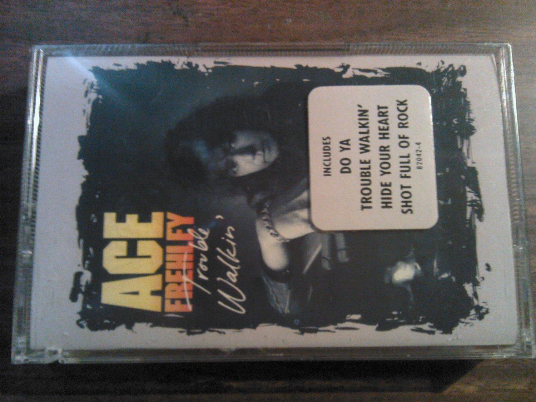 ACE FREHLEY cassette tape Trouble Walkin kiss SEALED