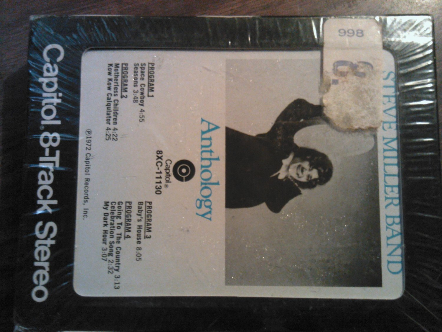 STEVE MILLER BAND 8-TRACK TAPE Anthology space cowboy vintage SEALED