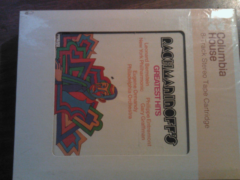 RACHMANINOFF 8-TRACK TAPE Leonard Bernstein philharmonic orchestra vintage SEALED SALE
