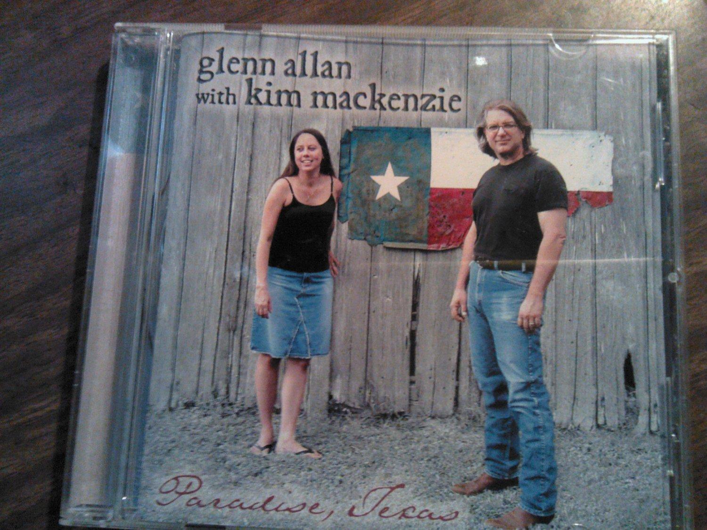 CD GLENN ALLAN WITH KIM MACKENZIE Paradise Texas flaco jimenez country tejano SALE