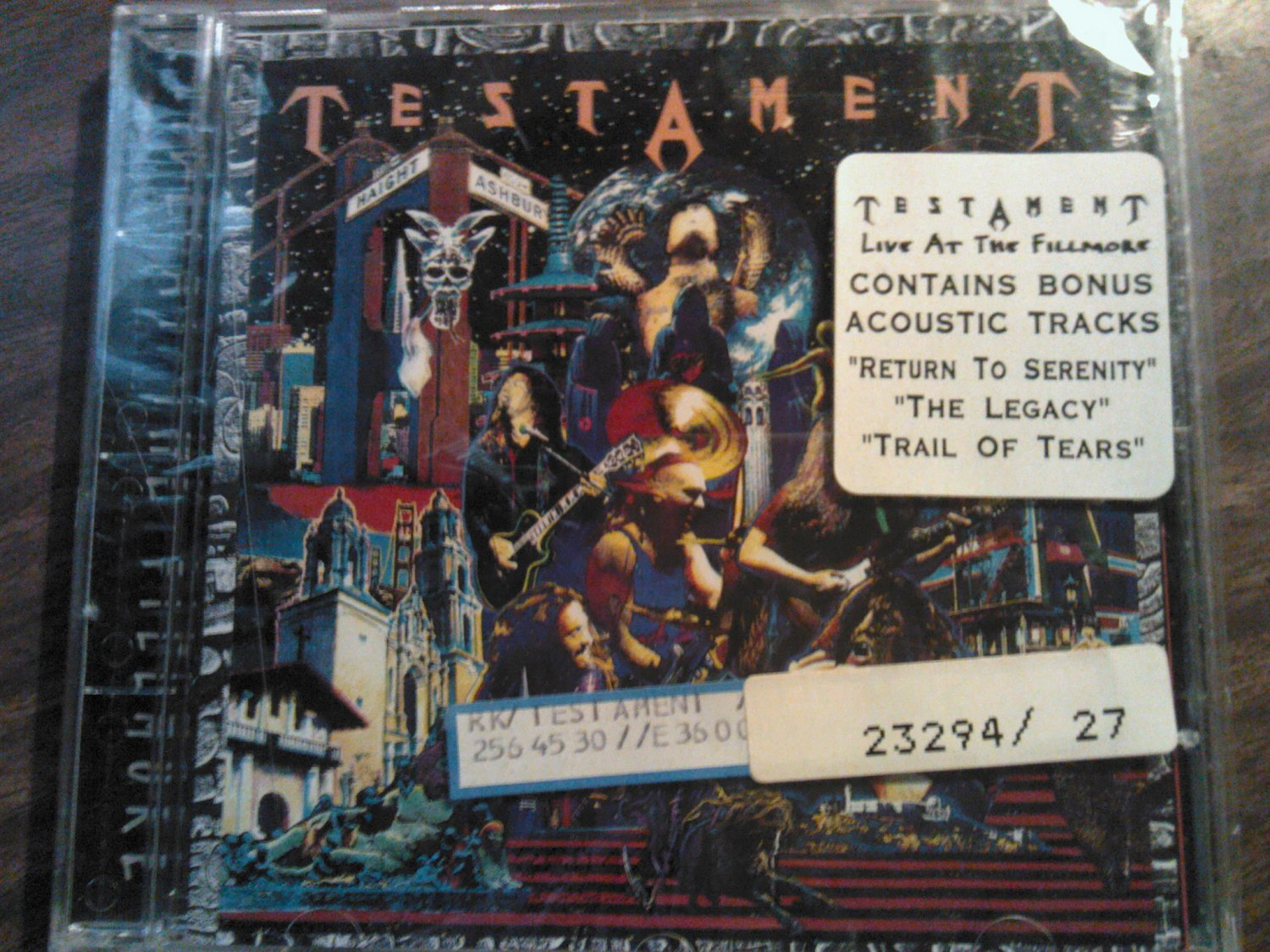 CD TESTAMENT Live at the Fillmore bonus SEALED