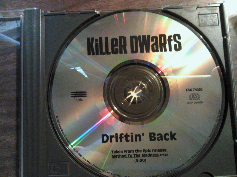 CD KILLER DWARFS Driftin Back single PROMO