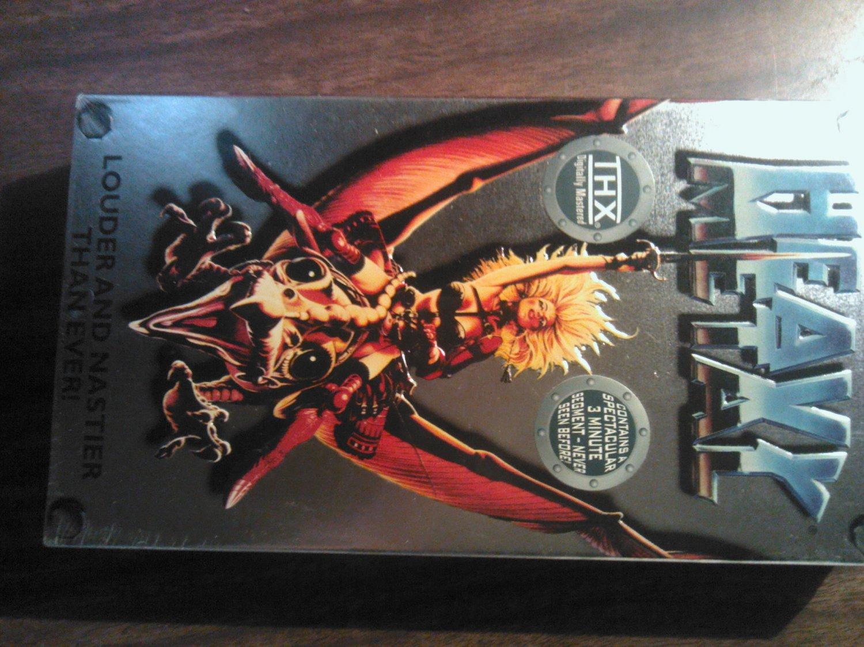 VHS HEAVY METAL the Movie Louder Nastier bonus SEALED