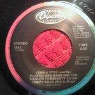 45 YOKO ONO happy xmas b/w snow is falling plastic band john lennon beatles vintage vinyl record
