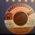 45 STEVIE WONDER my cherie amour b/w yester me yester you motown vintage vinyl record