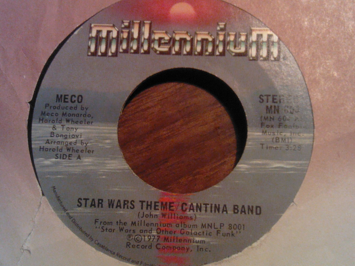 45 MECO star wars theme/canina band b/w funk vintage vinyl record