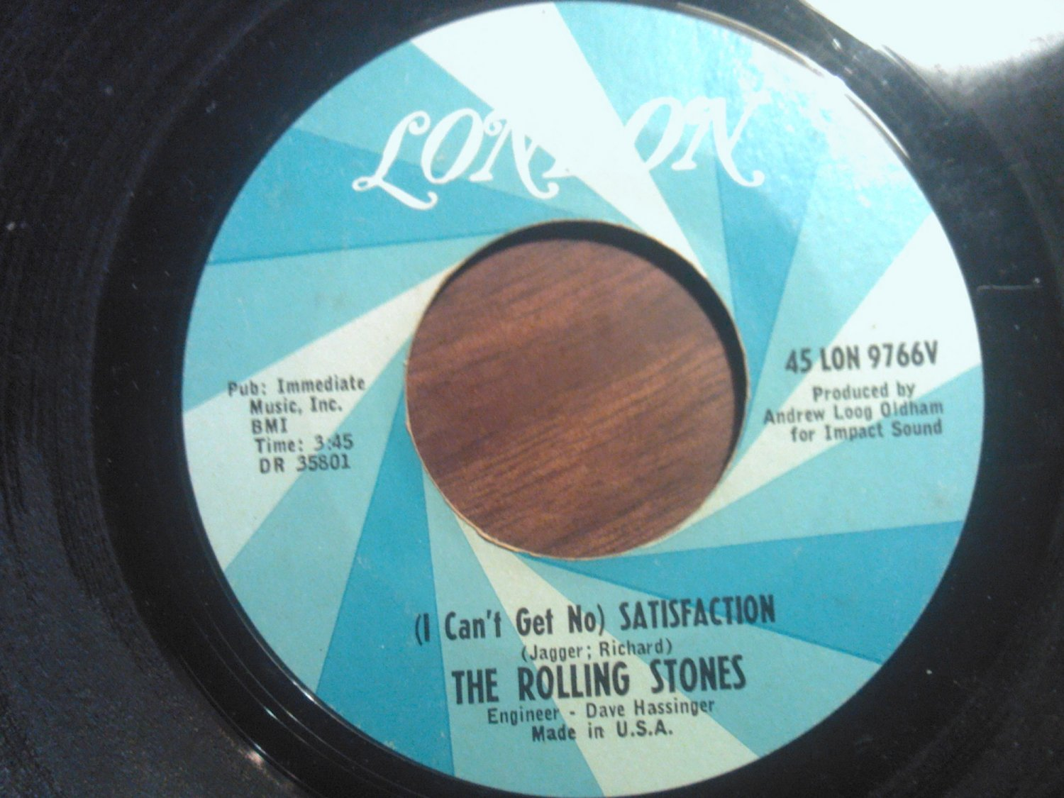 45 THE ROLLING STONES Satisfaction b/w Under Assistant.. london vintage vinyl record