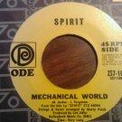 45 SPIRIT Mechanical World b/w Uncle Jack ode vintage vinyl record SALE