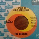 45 THE BEATLES I want to hold your hand b/w I saw her standing there vintage vinyl record