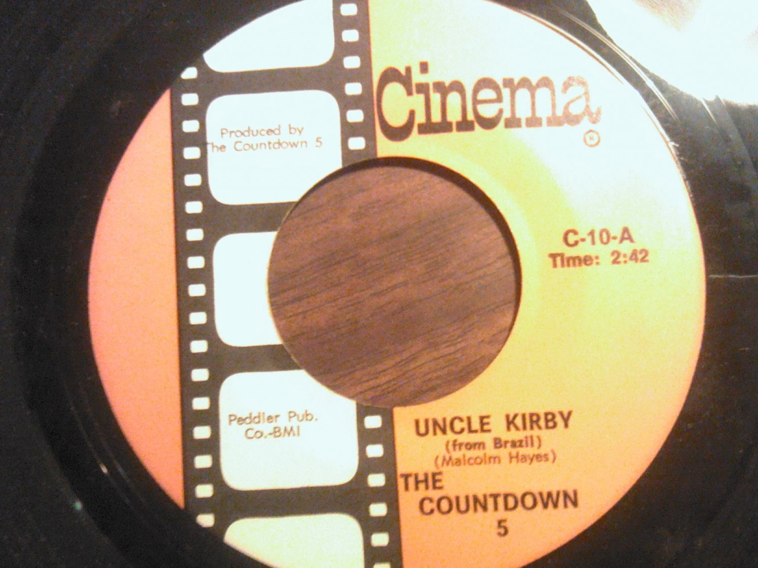 45 THE COUNTDOWN 5 Uncle Kirby b/w Speculation five vintage vinyl record
