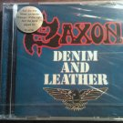 CD SAXON Denim And Leather import SEALED