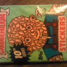 GPK SERIES 10 STICKERS 1987 garbage pail kids bubble gum SEALED PACK