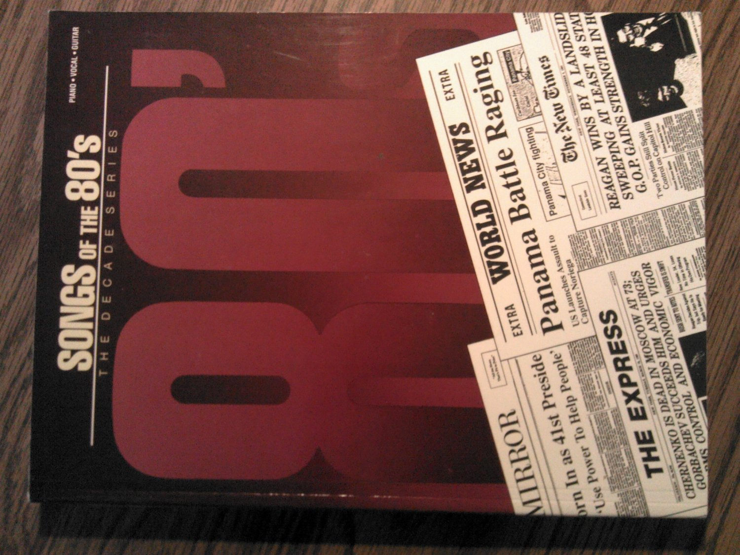 SONGS OF THE 80s SONGBOOK 42 songs piano vocal guitar song book P/V/G
