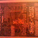 CONCERT FLYER Dangerous Toys sinus dayzy chain medieval knights texas
