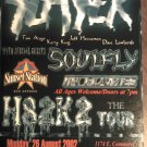CONCERT FLYER Slayer Soulfly in flames better than ezra cowboy mouth texas 2002 SALE