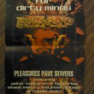 LOCK UP SATYRICON POSTER pleasures pave sewers rebel napalm death dimmu borgir 2 sided PROMO