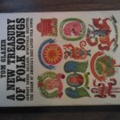 A NEW TREASURY OF FOLK SONGS Tom Glazer 158 songs vintage paperback book 1964 4th Ed