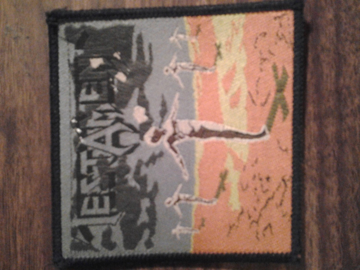 TESTAMENT sew-on PATCH Practice What You Preach album art VINTAGE