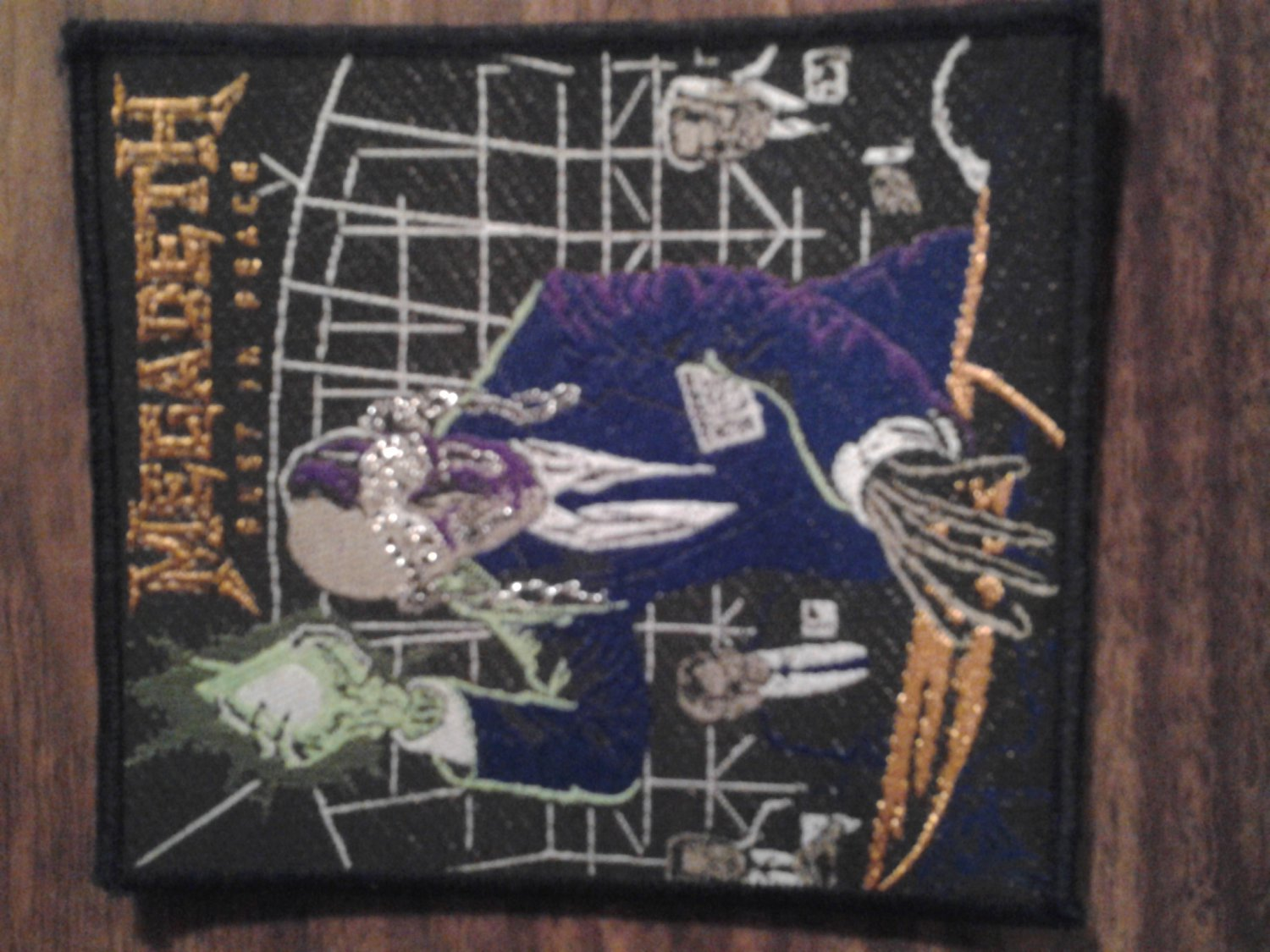 MEGADETH sew-on PATCH Rust In Peace Import VINTAGE