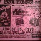 CONCERT FLYER Ted Nugent night ranger quiet riot slaughter rock never stops texas