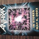 ANTHRAX FLYER We've Come For All Of You 2003 PROMO