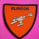 STAR TREK PATCH Klingon classic bird of prey badge unused VINTAGE