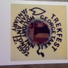 STAR TREK PHOTO polaroid George Takei trekfest san antonio texas 1992 VINTAGE